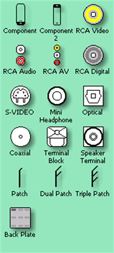 av visio stencils audio visual components shapes visio