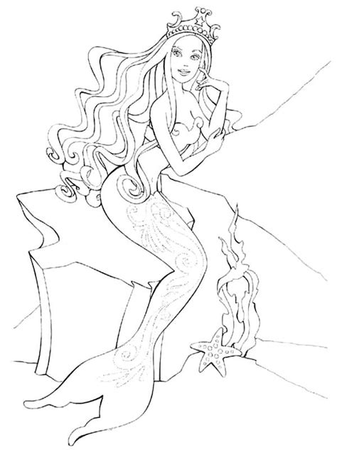 coloring pages mermaid picture 26