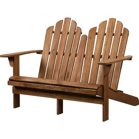 double benching adirondack outdoor teak double bench with solid wood
