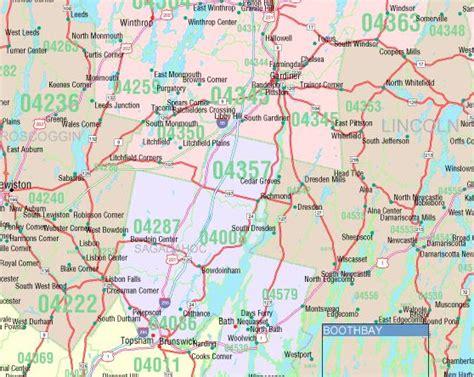 zip code map maine maine zip code map
