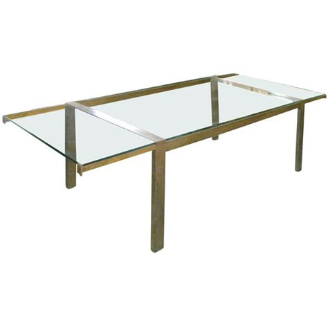 adjustable dining table adjustable brass and glass dining table at 1stdibs