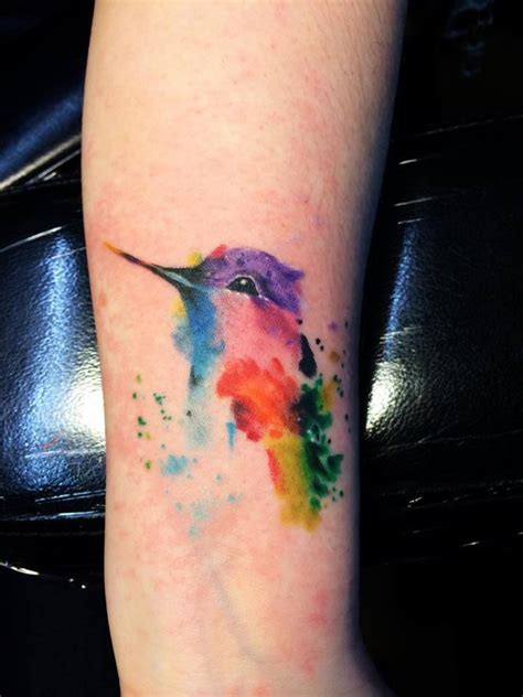 watercolor tattoos on wrist watercolor hummingbird designs ideas and meaning