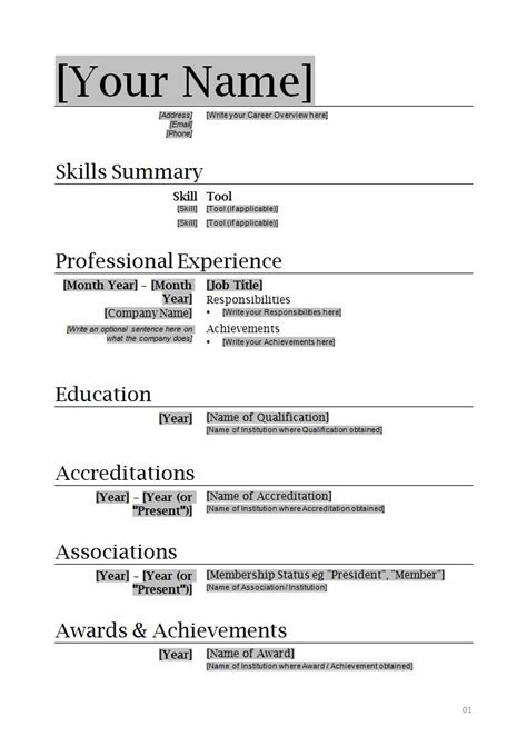 Resume Template For Office by Microsoft Office Resume Templates Beepmunk