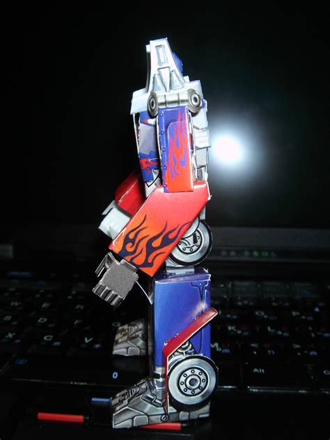 Transformers Papercraft Optimus Prime - papercraft optimus prime giveaway in hong kong