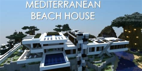 House Plans With Large Windows by Mediterranean Beach House Minecraft Building Inc