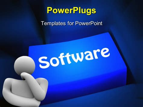 computer software concept powerpoint template background