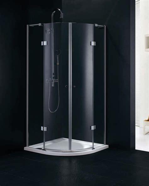 900 Shower Door Fortuna 900 X 900 Frameless Quadrant Shower Enclosure