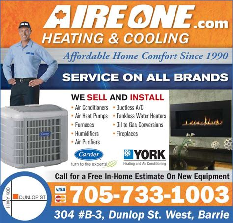 Ontario Home Comfort Inc by Aire One Heating Cooling Inc Opening Hours 304
