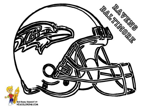 Baltimore Ravens Coloring Pages big stomp pro football helmet coloring football helmet free football
