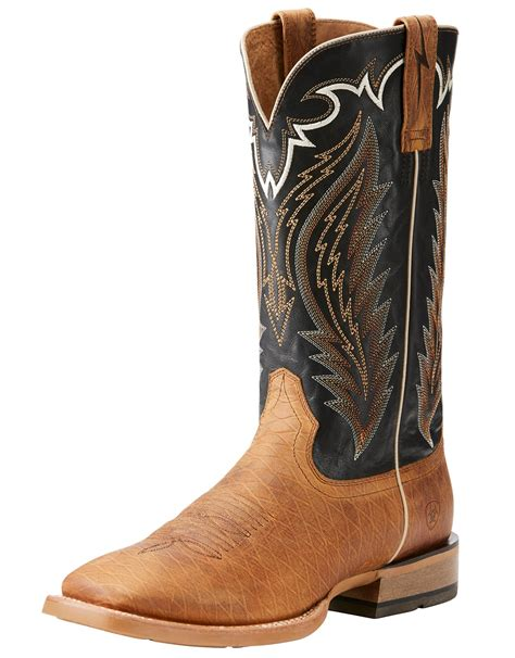 s ariat top 13 quot wide square toe boots brown black