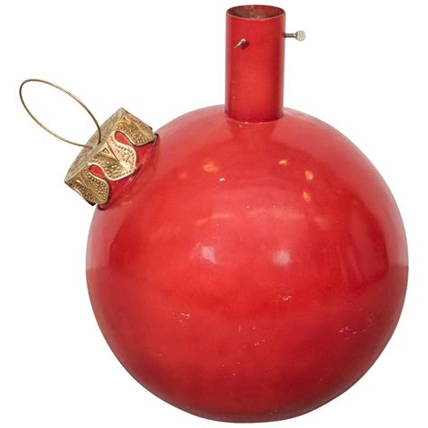 large red ball ornament christmas tree stand at 1stdibs
