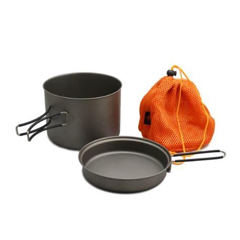 titanium cookware backpacking cing travel toaks titanium 1600ml pot with pan ebay