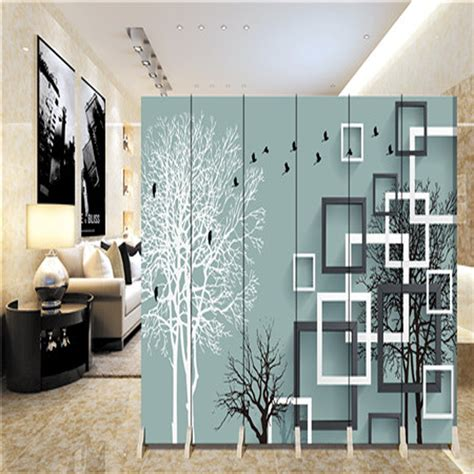 hanging screen home living room dining room partition hanging ornaments biombo folding screen 180 40cm 6pcs hanging screen wall decoration hangings room