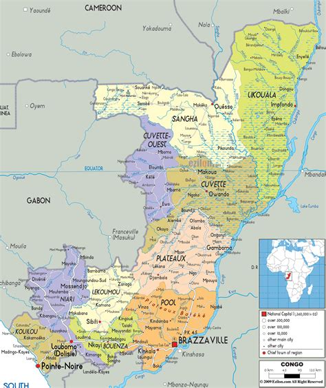 africa map congo detailed clear large map of congo ezilon maps