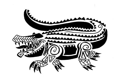 tribal gator tattoo 35 awesome alligator designs