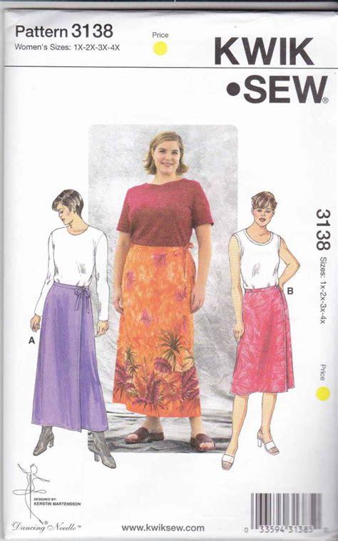 kwik sew sewing pattern 3138 s plus size 1x 4x 22w