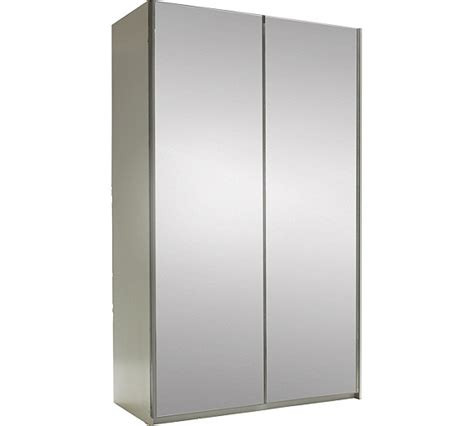 Argos Sliding Door Wardrobes buy hygena bergen 2 door small sliding wardrobe mirrored at argos co uk your shop for