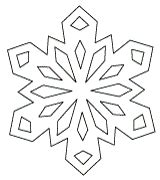 easy snowflake template paper snowflake pattern downloads 3 of them math