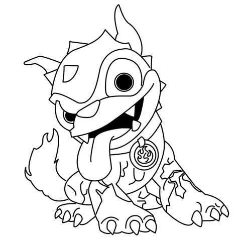 skylander giant coloring pages coloring home