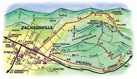 map of jacksonville oregon hike historic jacksonville oregon