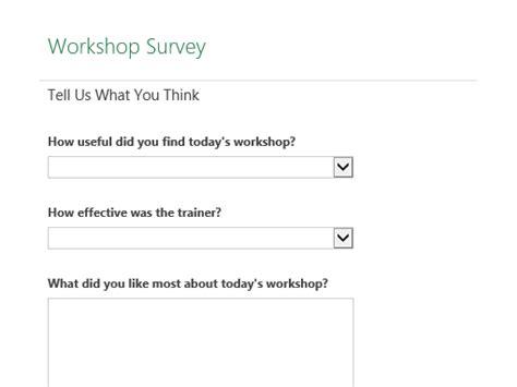 workshop survey office templates
