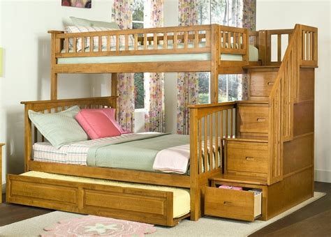 trundle bed with stairs full bunk bed with stairs and trundle inspiration loft