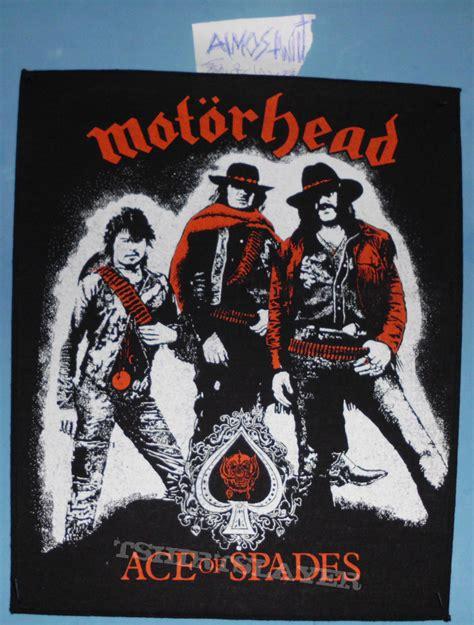 Kaos Motorhead Ace Of Spade Official Second original motorhead ace of spades back patch tshirtslayer tshirt and battlejacket gallery