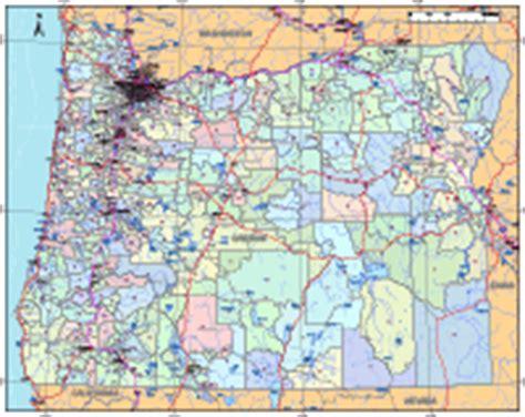 map of oregon zip codes oregon digital vector maps editable illustrator