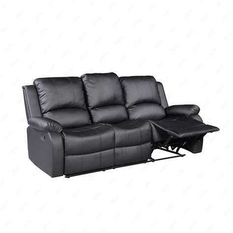 Leather Living Room Set With Chaise Black 3 Set Sofa Loveseat Chaise Recliner Leather