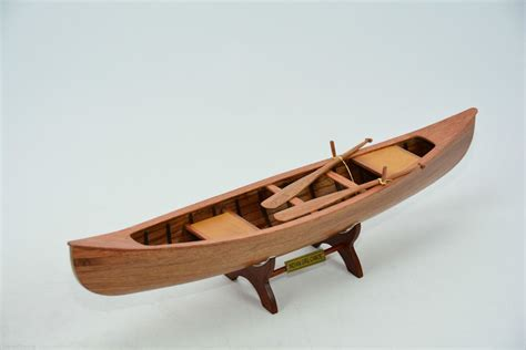 Handmade Canoe - indian canoe 24 quot wooden handmade row boat model ebay