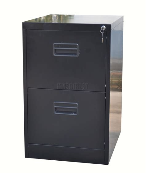 Two Door File Cabinet Home Office Filing Cabinet 2 Drawer A4 File Storage Metal Steel Lockable Black Ebay