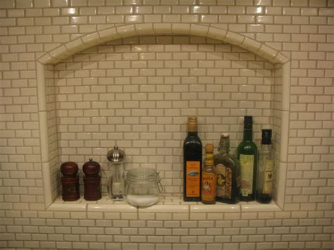 Mini Subway Tile Kitchen Backsplash Mini Subway Tile For The Shower Shelf Kitchen Ideas Pinterest