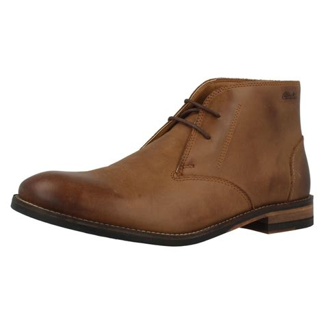 mens clarks smart ankle boots exton up ebay