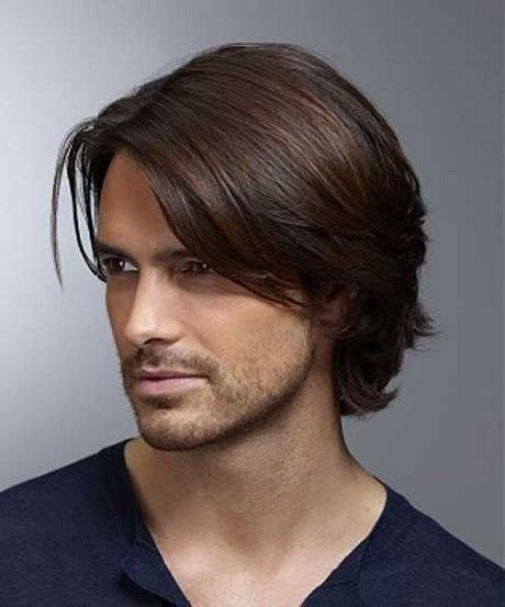 mens hairstyles layered cut long layered haircuts for men