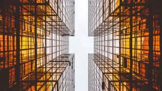 modern architecture glass skyscrapers 4k wallpaper