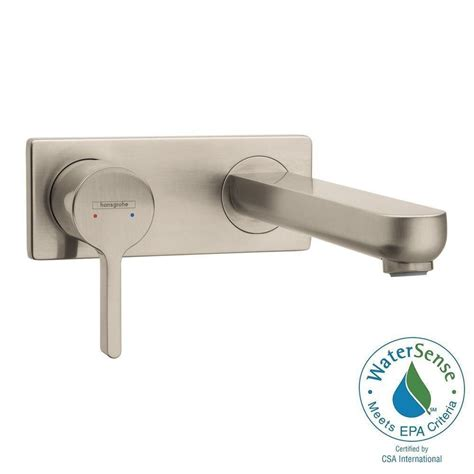 Metris S Single Faucet by Hansgrohe Metris S Single Handle Wall Mount Bathroom