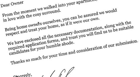 application letter for rental renting in sydney s a tough a cv makes it easier