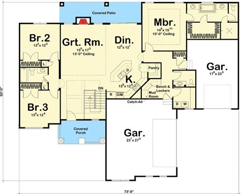 walk in pantry floor plans stylish ranch home plan 62530dj 1st floor master suite