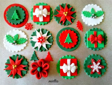 traditional christmas cupcake toppers christmas pinterest