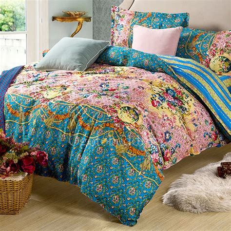 pretty bedding luxury teal pretty floral queen size duvet covers
