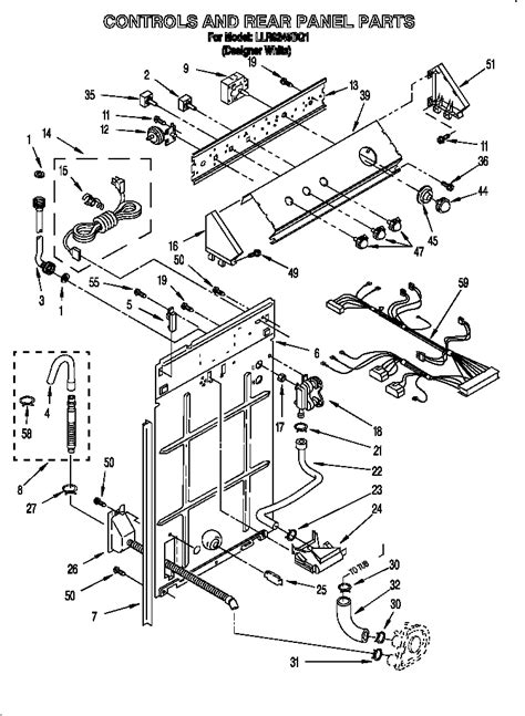 sears kenmore dryer parts door lock parts diagram for kenmore washer automotive parts