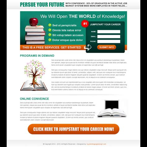 Education Landing Page Design Templates To Get The Best Conversion Rate Page 2 Education Landing Page Templates Free