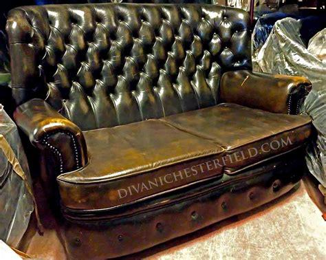 divano chesterfield vintage divani chesterfield usati in pelle vintage originali inglesi