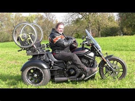 Motorrad Umbau Behinderung by Video Rollstuhl Trike Harley Davidson Motorrad Umbau