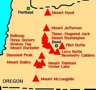 map of oregon volcanoes image gallery oregon volcanoes