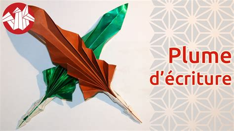 origami quill pen origami plume d 233 criture quill pen senbazuru my