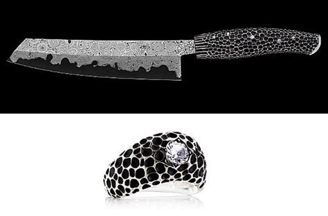 sharpest kitchen knives world s most sharpest nesmuk studded kitchen knife