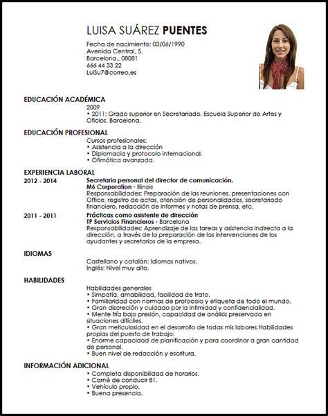 Modelo Curriculum Vitae De Secretaria Modelo Cv Asistente Personal Livecareer