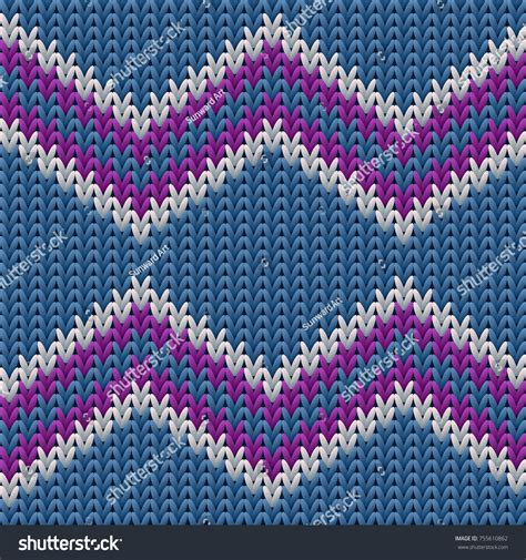 knit sweater with zig zag pattern zigzag knitted background ugly sweater pattern stock