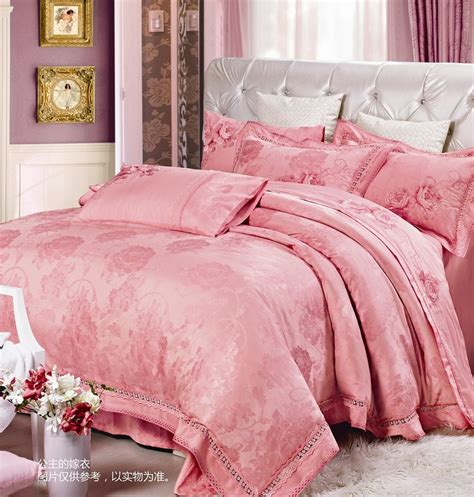 pink queen comforter set princess bedroom sets silk bedding sets king size pink